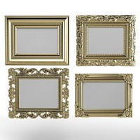 Classic Picture Frames set baroque carved victorian mirror